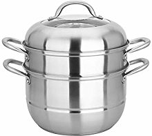 LIPENLI Stainless Steel Two-Layer Steamer, 26cm
