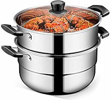 LIPENLI Steamer, Stainless Steel 26cm, Two-Layer