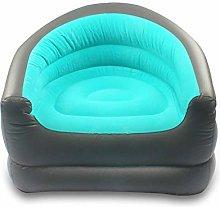 LIPETLI Blue Inflatable Sofa PVC Lazy Flocking