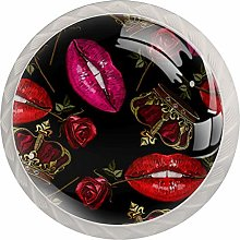 Lips Rose Crown Cabinet Knobs Knobs for Kitchen