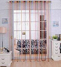 LIQICAI Rainbow String Curtain DIY Room Divider