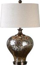 Liro Table Lamp In Mottled Dark Bronze