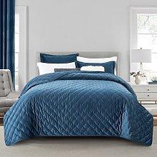 Lisette Bedspread Set Isabelline Colour: Navy