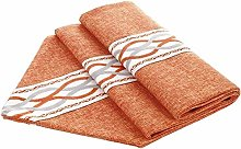LISI Orange Classic Table Runner Tablecloth Cotton