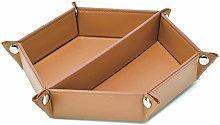 LISRSC Valet Tray, PU Leather EDC Tray Organiser,