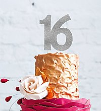LissieLou 16th Birthday Cake Topper, Large -