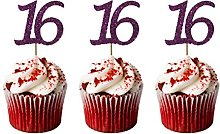 LissieLou 16th Birthday Cupcake Toppers in