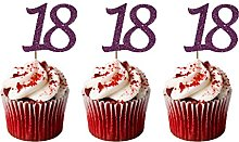 LissieLou 18th Birthday Cupcake Toppers in