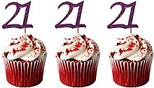 LissieLou 21st Birthday Cupcake Toppers in