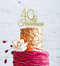 LissieLou 40 & Fabulous - Glitter Gold 40th