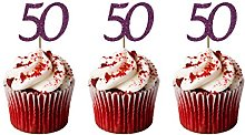 LissieLou 50th Birthday Cupcake Toppers in