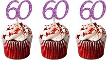 LissieLou 60th Birthday Cupcake Toppers in