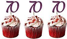LissieLou 70th Birthday Cupcake Toppers in