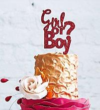 LissieLou Boy or Girl Cake Topper - Glittery Dark