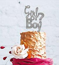LissieLou Boy or Girl Cake Topper - Glittery