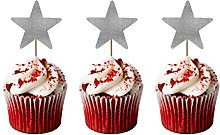 LissieLou Christmas Star Cupcake Toppers - Pack of