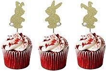 LissieLou Easter Bunny Cupcake Topper - Glitter