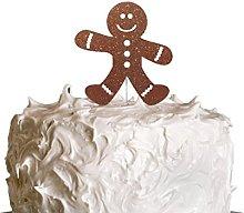 LissieLou Gingerbread Man Christmas Cake Topper -