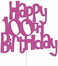 LissieLou Happy 100th Birthday Cake Topper