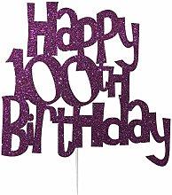 LissieLou Happy 100th Birthday Cake Topper