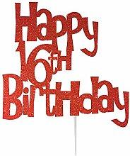 LissieLou Happy 16th Birthday Cake Topper
