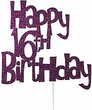 LissieLou Happy 16th Birthday Fun Style Cake
