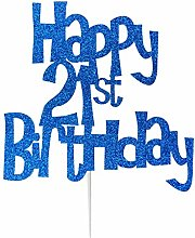 LissieLou Happy 21st Birthday Cake Topper