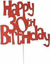 LissieLou Happy 30th Birthday Cake Topper