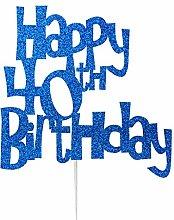 LissieLou Happy 40th Birthday Cake Topper