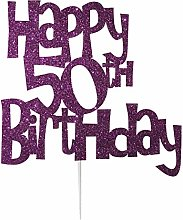 LissieLou Happy 50th Birthday Fun Style Cake