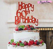 LissieLou Happy 60th Birthday Fun Style Cake