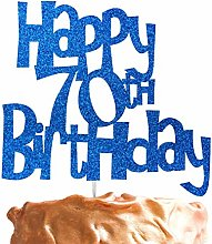 LissieLou Happy 70th Birthday Fun Style Cake