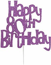 LissieLou Happy 80th Birthday Fun Style Cake