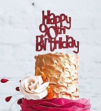 LissieLou Happy 90th Birthday Fun Style Cake