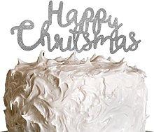 LissieLou Happy Christmas Cake Topper - Swirly