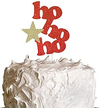 LissieLou HoHoHo Christmas Cake Topper with Star -