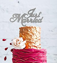 LissieLou Just Married Cake Topper - Wedding Mr &