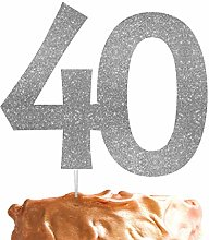 LissieLou Number 40 Cake Topper Large 40th