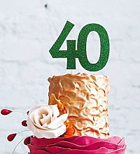 LissieLou Number 40 Cake Topper Large - 40th