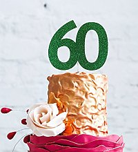 LissieLou Number 60 Cake Topper Large - 60th