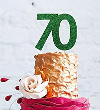 LissieLou Number 70 Cake Topper Large - 70th