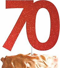 LissieLou Number 70 Cake Topper Large 70th