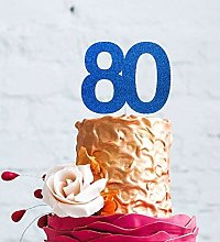 LissieLou Number 80 Cake Topper Large - 80th