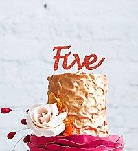 LissieLou Number Five Large Cake Topper - Glitter
