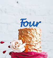 LissieLou Number Four Large Cake Topper - Glitter