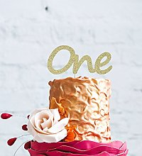 LissieLou Number One Birthday Large Cake Topper -