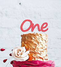 LissieLou Number One Large Cake Topper - Light Pink