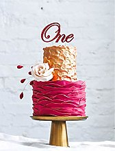 LissieLou Number One Swirly Large Cake Topper -
