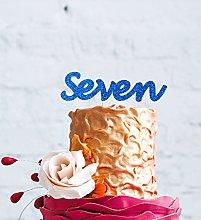 LissieLou Number Seven Large Cake Topper - Glitter