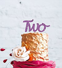 LissieLou Number Two Large Cake Topper - Glitter